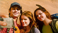 127 Hours (2010) <br /> James Franco, Kate Mara &amp; Amber Tamblyn<br /> *Filmstill - Editorial Use Only*<br /> CAP/KFS<br /> Image supplied by Capital Pictures
