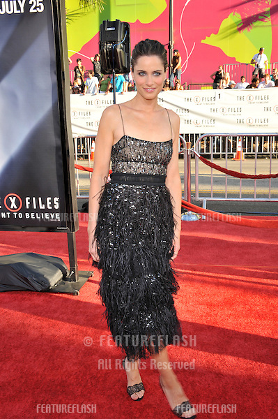 "Amanda Peet at the world premiere of her new movie ""The X-Files: I Want To Believe"" at Grauman's Chinese Theatre, Hollywood..July 23, 2008  Los Angeles, CA.Picture: Paul Smith / Featureflash"