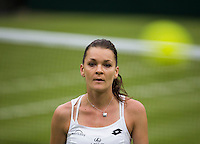 AGNIESZKA RADWANSKA (POL)<br /> <br /> TENNIS - THE CHAMPIONSHIPS - WIMBLEDON - ATP - WTA - ITF - GRAND SLAM - CHAMPIONSHIPS - LONDON - GREAT  BRITAIN - 2016  <br /> <br /> <br /> <br /> &copy; TENNIS PHOTO NETWORK