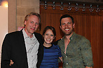 Celebrating 25 years of Pennsylvania Shakespeare Festival 2016 - opening night of Shakespeare's Julius Caesar and also attending are As The World Turns' Marnie Schulenburg and husband Zack Robidas who will be starring in Love's Labour's Lost - July 27 to August 7, 2016 in Center City, Pennsylvania and pose with Patrick Mulcahy (producing artistic director). (Photo by Sue Coflin/Max Photos)
