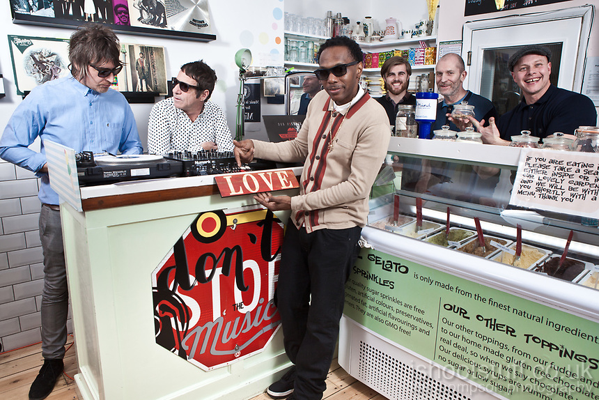 Dub Pistols at Revival Ice Cream Parlour and Veggie Bar in Whitstable.