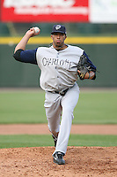 May 26th, 2008:  Pitcher Dewon Day (25) of the Charlotte Knights, Class-AAA affiliate of the Chicago White Sox, during a game at Frontier Field in Rochester, NY.  Photo by:  Mike Janes/Four Seam Images