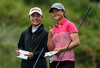 Juliana Hung and Yoonjeong Huh. New Zealand Stroke Play Championships, Paraparaumu Golf Course, Paraparaumu Beach, Kapiti Coast, Saturday 24 March 2018. Photo: Simon Watts/www.bwmedia.co.nz