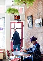 Tatiana Zybin at Cup A Joe coffee shop in downtown Hillsborough, NC.