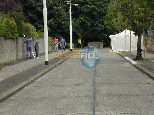 the scene where Raonid Murray was murdered.Pic Fran Caffrey Newsfile