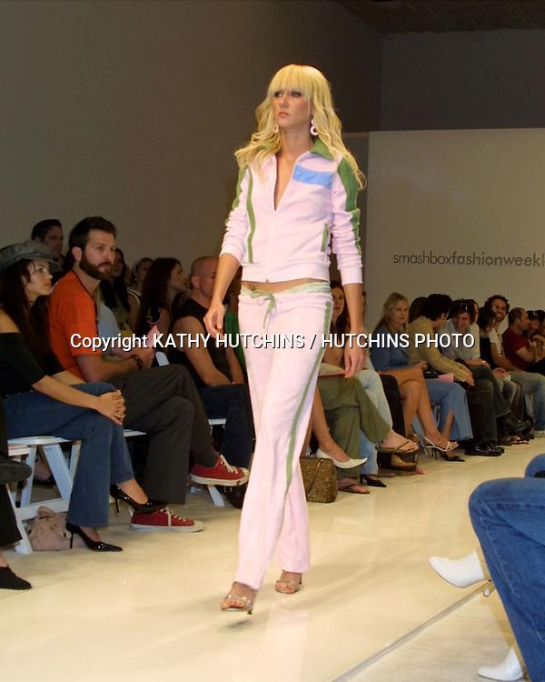 ©2003 KATHY HUTCHINS / HUTCHINS PHOTO.FASHION WEEK LA - H. STARLET FASHION SHOW.SMASHBOX.CULVER CITY, CA.OCTOBER 29, 2003..KIMBERLY STEWART