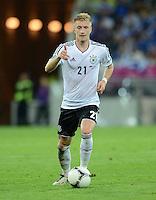 FUSSBALL  EUROPAMEISTERSCHAFT 2012   VIERTELFINALE Deutschland - Griechenland     22.06.2012 Marco Reus (Deutschland) Einzelaktion am Ball