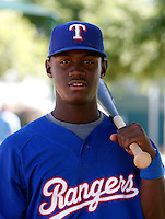 Odubel Herrera - Texas Rangers 2009 Instructional League.Photo by:  Bill Mitchell/Four Seam Images..