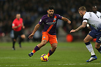 Sergio Aguero of Manchester City takes on the Tottenham Hotspur defence during Tottenham Hotspur vs Manchester City, Premier League Football at Wembley Stadium on 29th October 2018