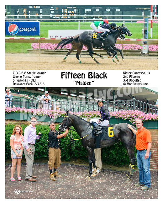 Fifteen Black winning at Delaware Park on 7/7/15