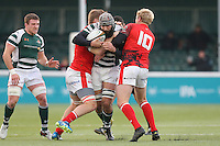 Adam Preocanin of Ealing Trailfinders tries to find a way through during the Greene King IPA Championship match between Ealing Trailfinders and London Welsh RFC at Castle Bar , West Ealing , England  on 26 November 2016. Photo by David Horn / PRiME Media Images