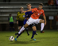 The number 24 ranked Furman Paladins took on the number 20 ranked Clemson Tigers in an inter-conference game at Clemson's Riggs Field.  Furman defeated Clemson 2-1.  Paul Clowes (6)