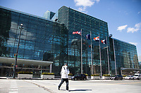 NEW YORK, NY - MARCH 24: Side view of the Javits Convention Center, which in the next few weeks will become a hospital to combat coronavirus cases on March 24, 2020 in New York City. New York City, with more than 25,000 confirmed cases of (COVID-19), makes it the epicenter of the outbreak in the United States. (Photo by Pablo Monsalve / VIEWpress via Getty Images)