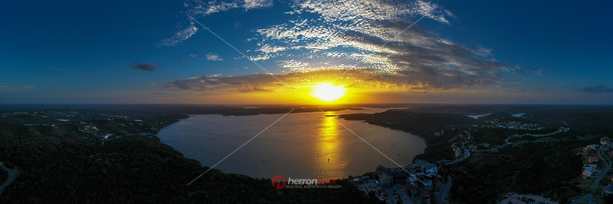 Lake Travis is a favorite lake for sailing and water skiing and is part of the Highland Lakes chain on the Colorado River in Central Texas. Lake Travis is the fifth lake down, with Lake Austin on the south and Lake Marble Falls on the northwest.