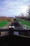 A084G0 Caen hill flight of locks Kennet and Avon canal Devizes Wiltshire England