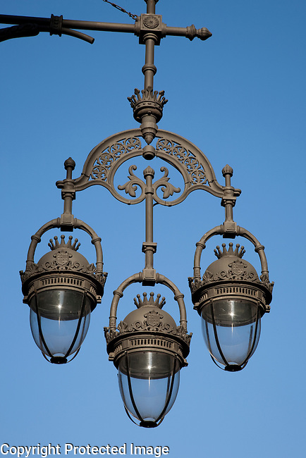 Close up of Lamppost in Barcelona, Catalonia, Spain