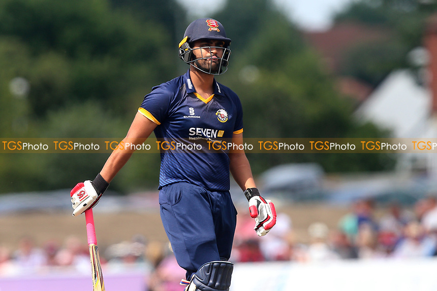 Tamim Iqbal of Essex leaves the field having been dismissed for 7 during Kent Spitfires vs Essex Eagles, NatWest T20 Blast Cricket at The County Ground on 9th July 2017