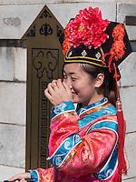 Touristen auf dem Jingshanh&uuml;gel in Peking, China, Asien<br /> Tourists on Jingshan hill, Beijing, China, Asia