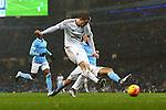 Swansea's Gylfi Sigurosson shoots on goal - Manchester City vs Swansea - Barclays Premier League - Etihad Stadium - Manchester - 12/12/2015 Pic Philip Oldham/SportImage