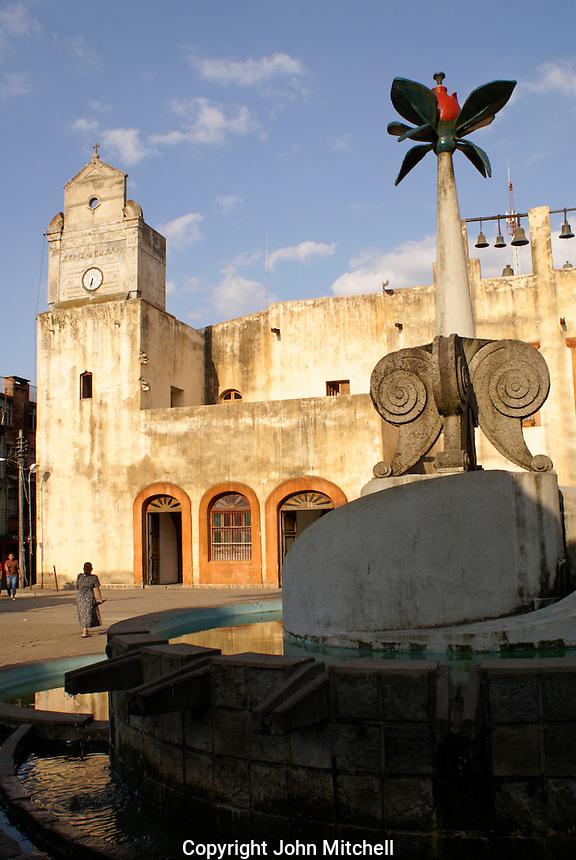 The Convento de San Agustin on the main square in Xilitla, San Luis Potosi state, Mexico
