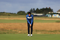 Sandy Scott (GB&I) on the 1st during the Foursomes at the Walker Cup, Royal Liverpool Golf CLub, Hoylake, Cheshire, England. 07/09/2019.<br /> Picture Thos Caffrey / Golffile.ie<br /> <br /> All photo usage must carry mandatory copyright credit (© Golffile | Thos Caffrey)