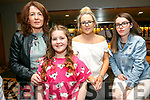 Enjoying the Caherleaheen NS Fashion Show at Ballyroe Hotel on Thursday were Sharon McGoff, Ava McGoff, Tracy Tierney and Jessy Tierney