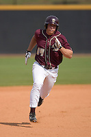 Mike Belfiore #24of the Boston College Eagles hustles towards third base versus the Wake Forest Demon Deacons at Wake Forest Baseball Park April 11, 2009 in Winston-Salem, NC. (Photo by Brian Westerholt / Four Seam Images)