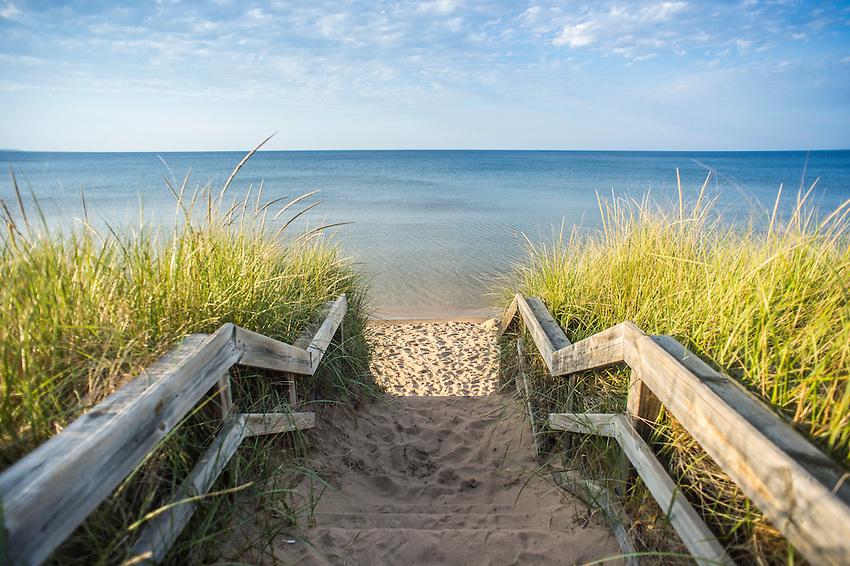 Lake Superior beach at Marquette, Michigan.