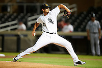 Salt River Rafters pitcher Andre Rienzo #41, of the Chicago White Sox organization, during an Arizona Fall League game against the Peoria Javelinas at the Salt River Fields at Talking Stick on October 18, 2012 in Scottsdale, Arizona.  Peoria defeated Salt River 3-1.  (Mike Janes/Four Seam Images via AP Images)