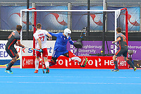Netherlands score their second goal from Bjorn Kellerman during the Hockey World League Semi-Final match between England and Netherlands at the Olympic Park, London, England on 24 June 2017. Photo by Steve McCarthy.