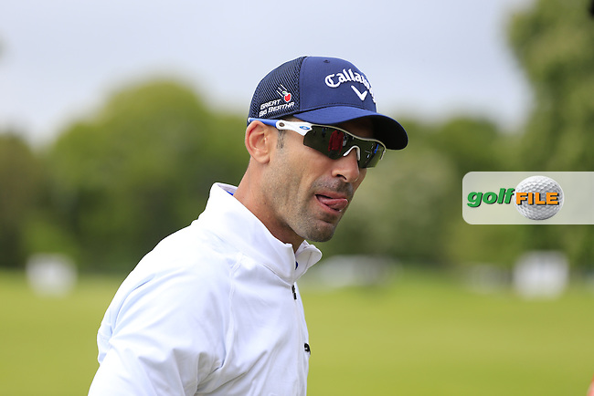 Alvaro Quiros (ESP) on the range during Wednesday's Pro-Am of the 2016 Dubai Duty Free Irish Open hosted by Rory Foundation held at the K Club, Straffan, Co.Kildare, Ireland. 18th May 2016.<br /> Picture: Eoin Clarke | Golffile<br /> <br /> <br /> All photos usage must carry mandatory copyright credit (&copy; Golffile | Eoin Clarke)
