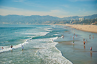 Santa Monica CA,  city, New Silicon of the Pacific, beach, healthy lifestyle,  world-famous beach, bike trail, outdoor recreation, activities. California, North America