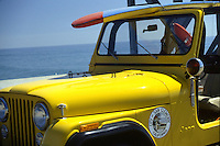 Yellow Lifeguard Jeep Orange County 1982