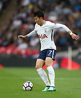 Tottenham Hotspur's Son Heung-Min<br /> <br /> Photographer Rob Newell/CameraSport<br /> <br /> The Premier League - Tottenham Hotspur v Newcastle United - Wednesday 9th May 2018 - Wembley Stadium - London<br /> <br /> World Copyright &copy; 2018 CameraSport. All rights reserved. 43 Linden Ave. Countesthorpe. Leicester. England. LE8 5PG - Tel: +44 (0) 116 277 4147 - admin@camerasport.com - www.camerasport.com