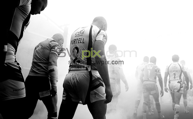 PICTURE BY VAUGHN RIDLEY/SWPIX.COM - Rugby League - Super League Magic Weekend - Bradford Bulls v Leeds Rhinos - Eithad Stadium, Manchester, England - 27/05/12 - Bradford's Adrian Purtell.