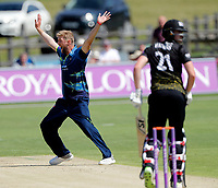 Calum Haggett appeals for Kent during the Royal London One Day Cup game between Kent and Gloucestershire at the County Ground, Beckenham, on June 3, 2018