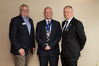 Pictured from left, Deputy President Richard Cooper, new president Ian Roberts and immediate past presdient Mark Deakin