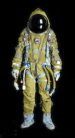 BNPS.co.uk (01202) 558833<br /> Picture: Bonhams/BNPS<br /> <br /> ****Please use full byline****<br /> <br /> Strizh Spacesuit.<br /> <br /> A 54-year-old spacesuit from the USA's famed mission to beat Cold War rivals the Soviet Union in the race to put the first man into space has emerged for sale.<br /> <br /> The silver suit was used during the early days of NASA's Project Mercury flight programme, the USA's bid for supremacy in spaceflight.<br /> <br /> It was manufactured using a special fabric made by by the Minnesota Mining and Manufacturing Company, now known as 3M.<br /> <br /> The outer part of the suit is made from green nylon coated with aluminium powder, giving it its iconic silver colouring.<br /> <br /> The spacesuit is tipped to fetch &pound;7,000 when it goes under the hammer at Bonhams on behalf of a private collector from Texas.