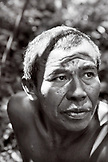 BELIZE, Punta Gorda, Village of San Pedro Colombia, portrait of Cacao farmer Eladio Pop at Agouti Cacao Farm (B&W)