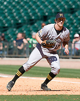 Missouri TIger Aaron Senne against the TCU Horned Frogs on Friday March 5th, 2100 at the Astros College Classic in Houston's Minute Maid Park.  (Photo by Andrew Woolley / Four Seam Images)