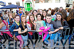 Pictured queuing for the Union J concert at Denny Street on Friday were: Zoe Perry, Alannah Curtin, Sophie Sullivan, Lara Perry, Vickie Perry, Abbey Mahony, Bernice O'Shea, Daniel Mulligan-Clancy, Kelly Sheehy (Tralee and Ardfert).