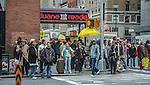 new york city street during rush hour
