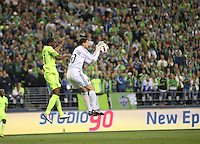Goalkeeper Andy Gruenebaum(30) of the Columbus Crew knocks the ball away. The Seattle Sounders FC defeated the Columbus Crew 2-1 during the US Open Cup Final at Qwest Field in Seattle,WA, on October 5, 2010.