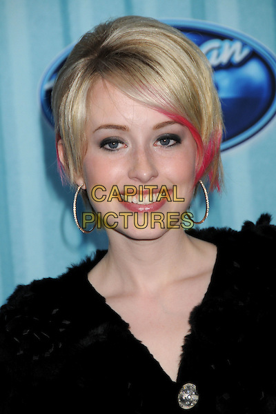 ALEXIS GRACE.American Idol Top 12 Party held at Area, Los Angeles, California, USA.March 5th, 2009.headshot portrait black hoop earrings pink dyed hair.CAP/ADM/BP.©Byron Purvis/AdMedia/Capital Pictures.