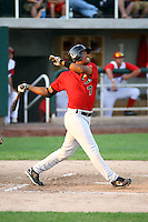 July 10th 2008:  Johny Celis of the Great Falls Voyagers, Rookie Class-A affiliate of the Chicago White Sox, during a game at the Home of the Owlz Stadium in Orem, UT.  Photo by:  Matthew Sauk/Four Seam Images