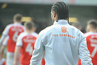Blackpool's Nathan Delfouneso<br /> <br /> Photographer Kevin Barnes/CameraSport<br /> <br /> The EFL Sky Bet League One - Fleetwood Town v Blackpool - Saturday 7th March 2020 - Highbury Stadium - Fleetwood<br /> <br /> World Copyright © 2020 CameraSport. All rights reserved. 43 Linden Ave. Countesthorpe. Leicester. England. LE8 5PG - Tel: +44 (0) 116 277 4147 - admin@camerasport.com - www.camerasport.com
