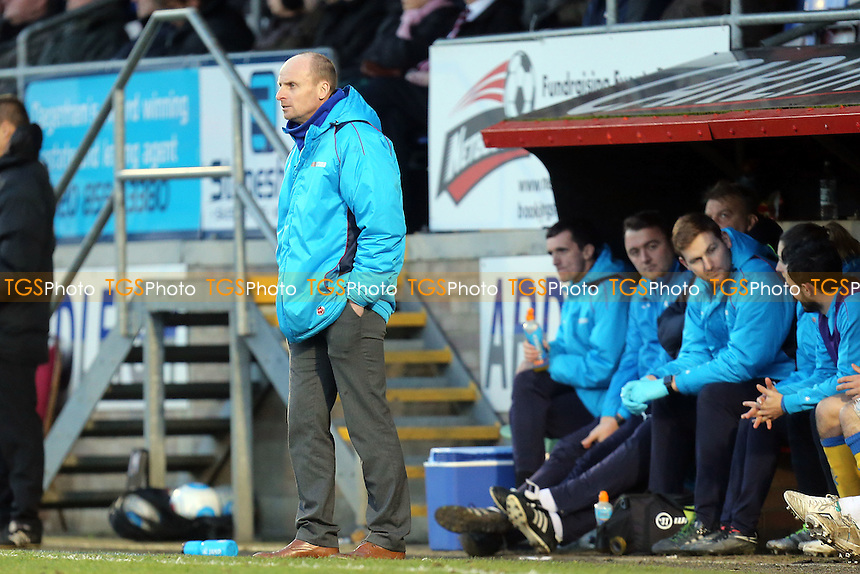 Chester manager Jon McCarthy during Dagenham & Redbridge vs Chester, Vanarama National League Football at the Chigwell Construction Stadium on 4th February 2017