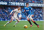 Emerson Hyndman goes past Motherwell's Jack McMillan