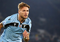 Football, Serie A: S.S. Lazio - Napoli, Olympic stadium, Rome, January 11, 2020.<br /> Lazio's Ciro Immobile celebrates after scoring during the Italian Serie A football match between S.S. Lazio and Napoli at Rome's Olympic stadium, Rome , on January 11, 2020.<br /> UPDATE IMAGES PRESS/Isabella Bonotto