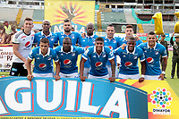 NEIVA - COLOMBIA, 12-11-2017: Jugadores del Millonarios posan para una foto previo al partido entre Atlético Huila y Millonarios por la fecha 15 de la Liga Águila II 2017 jugado en el estadio Guillermo Plazas Alcid de la ciudad de Neiva. / Players of Millonarios pose to a photo prior the match between Atletico Huila and Millonarios for the date 15 of the Aguila League II 2017 played at Guillermo Plazas Alcid in Neiva city. VizzorImage / Sergio Reyes / Cont